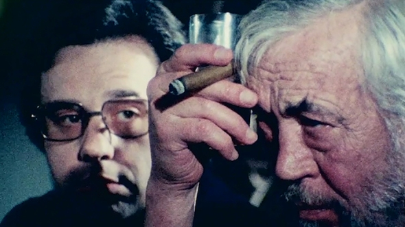 Peter Bogdanovich, John Huston in Orson Wells'